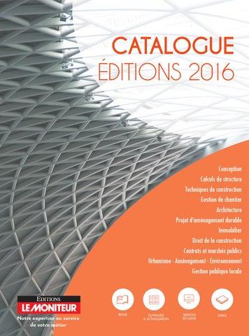 Catalogue editions du moniteur avril 2016 by infopro for Meilleur moniteur 2016