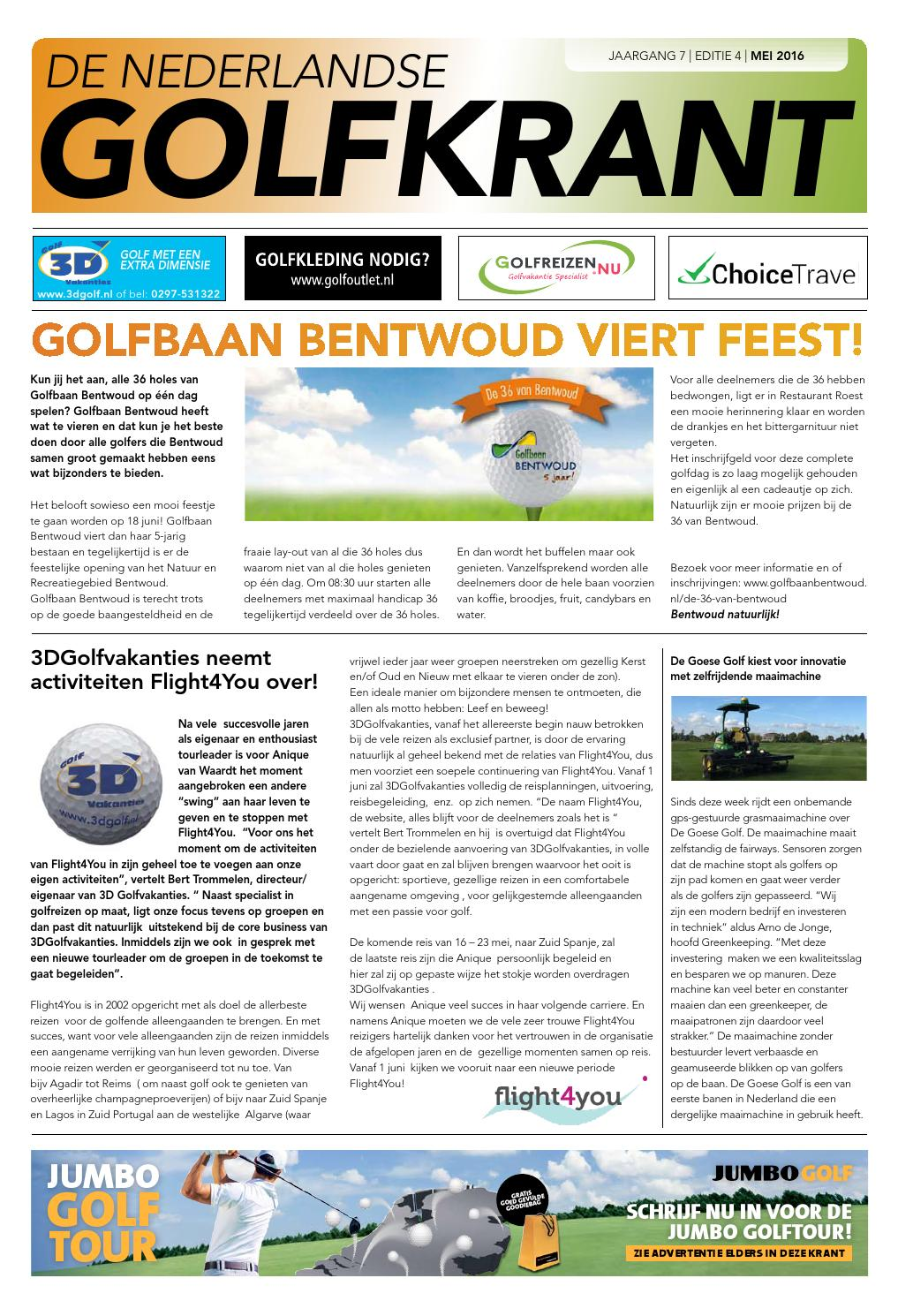 b4d171525e3 Golfkrant editie mei 2016 by Golfkrant - issuu
