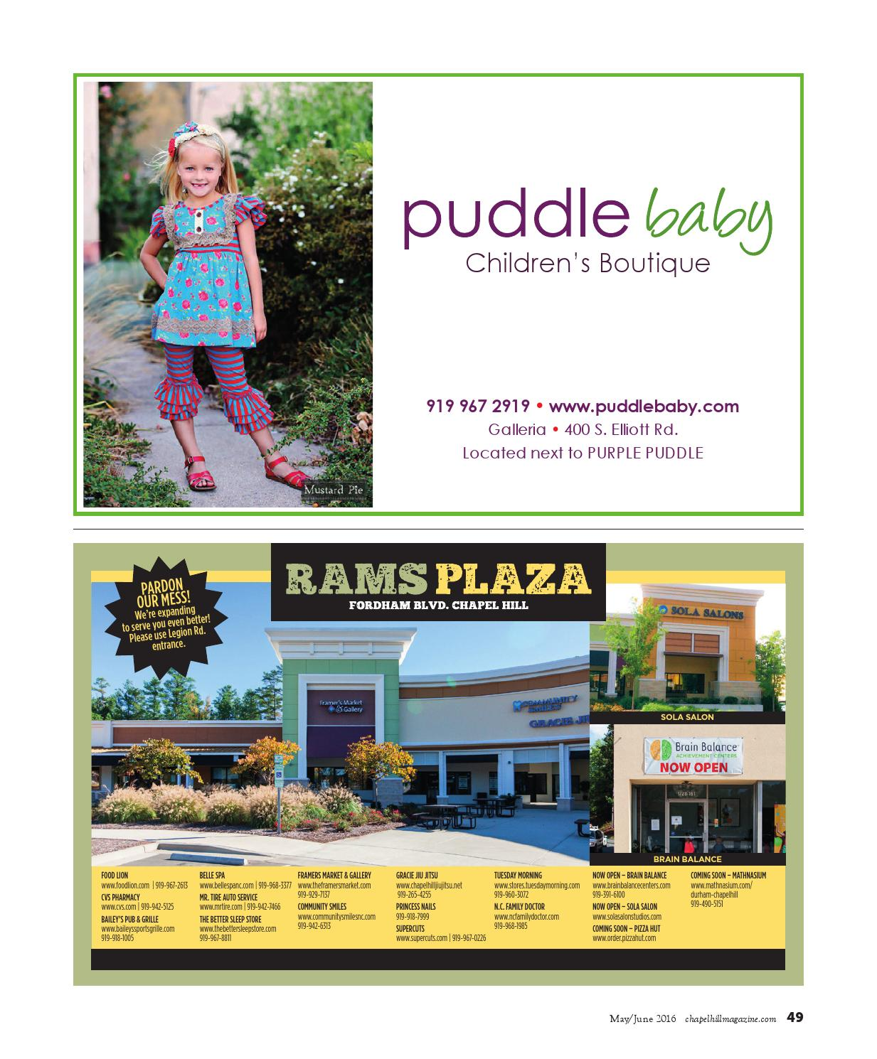 Chapel Hill Magazine May June 2016 By Shannon Media Issuu