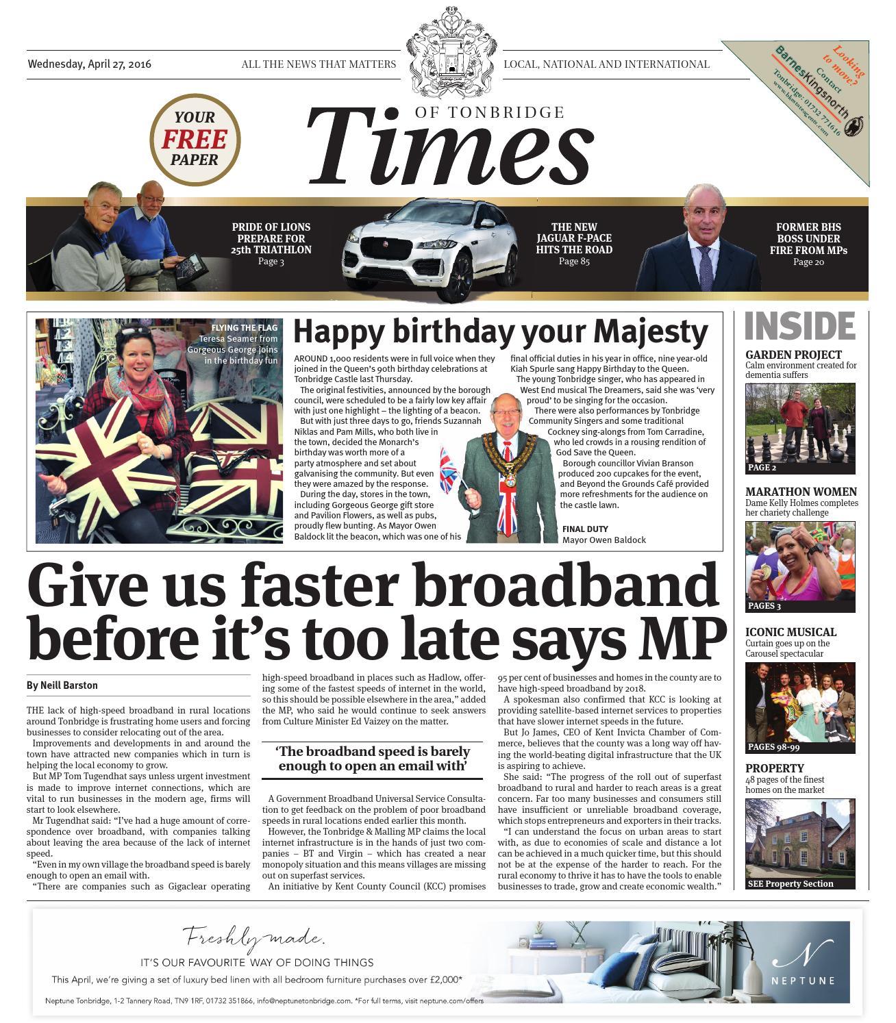 ea4415a2e62 Times of Tonbridge 27th April 2016 by One Media - issuu