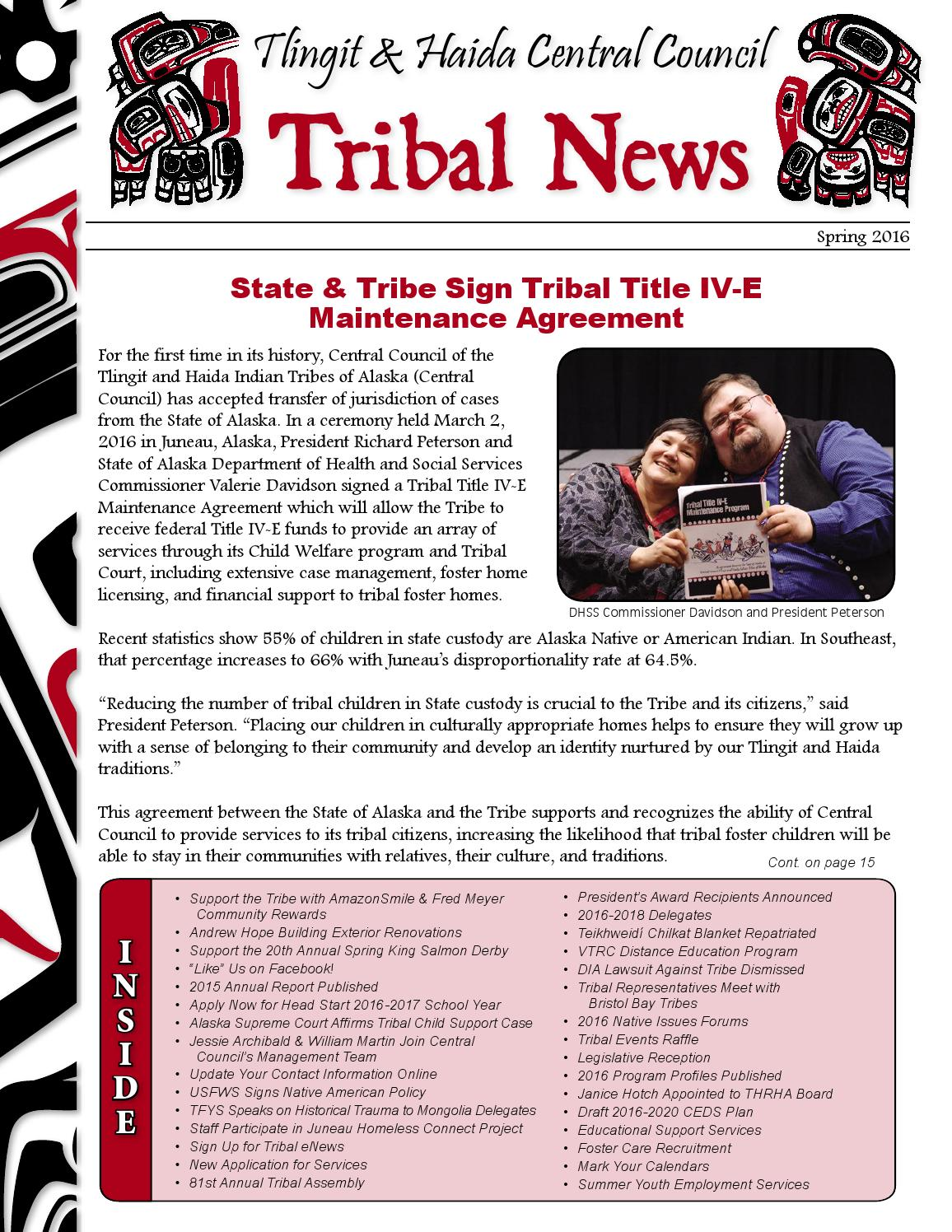 First quarter 2016 tribal news by central council tlingit haida first quarter 2016 tribal news by central council tlingit haida indian tribes of alaska issuu 1betcityfo Choice Image