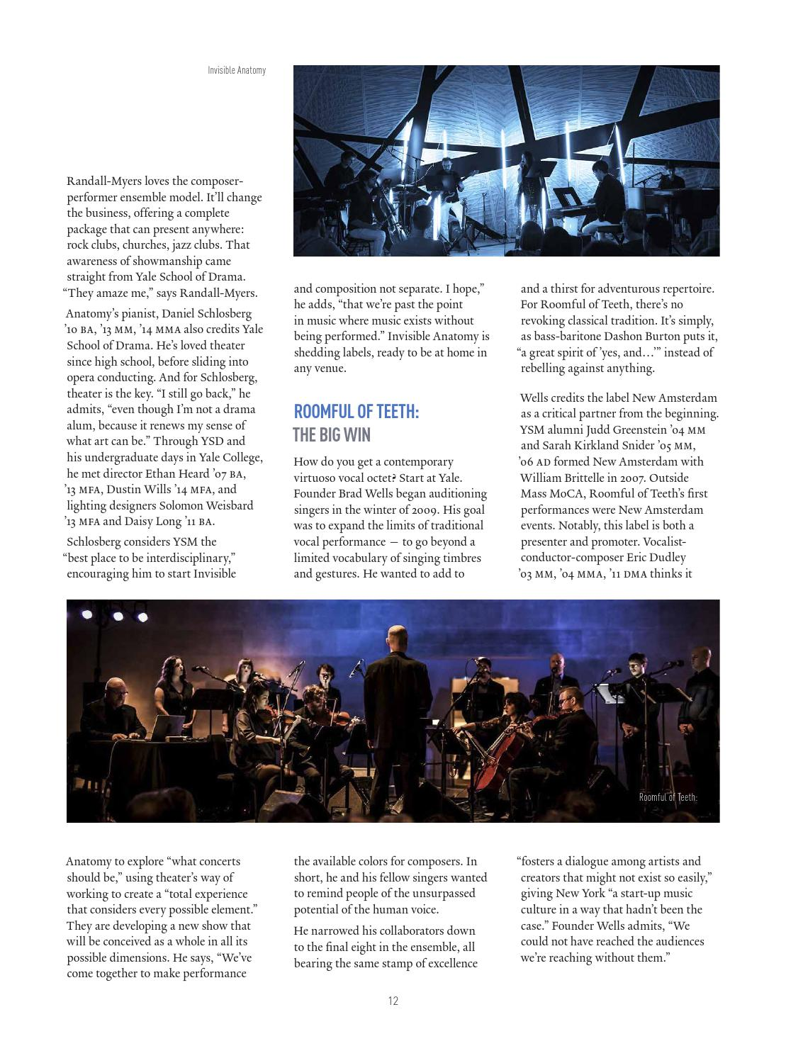 Music at Yale | Spring 2016 by Yale School of Music - issuu
