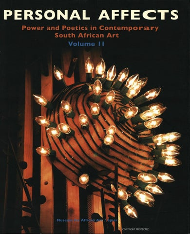 Personal affects power poetics in contemporary south african art page 1 aloadofball Choice Image
