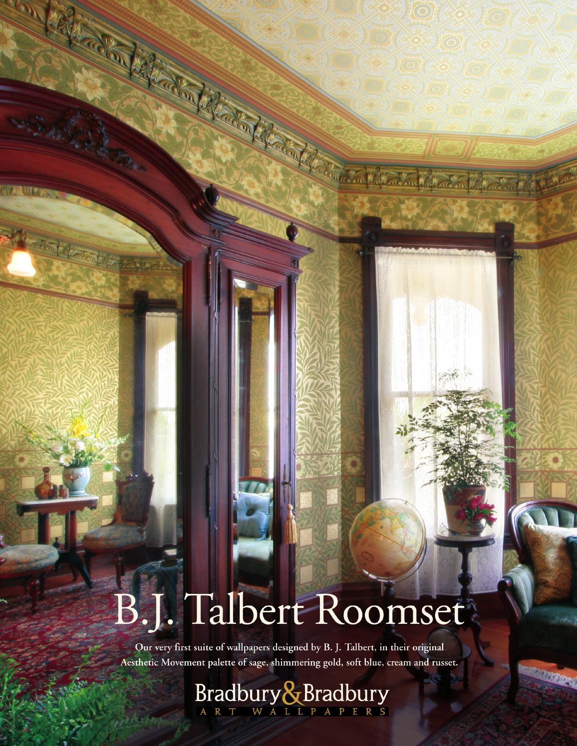b j talbert wallpaper collection by bradbury bradbury art wallpapers issuu. Black Bedroom Furniture Sets. Home Design Ideas