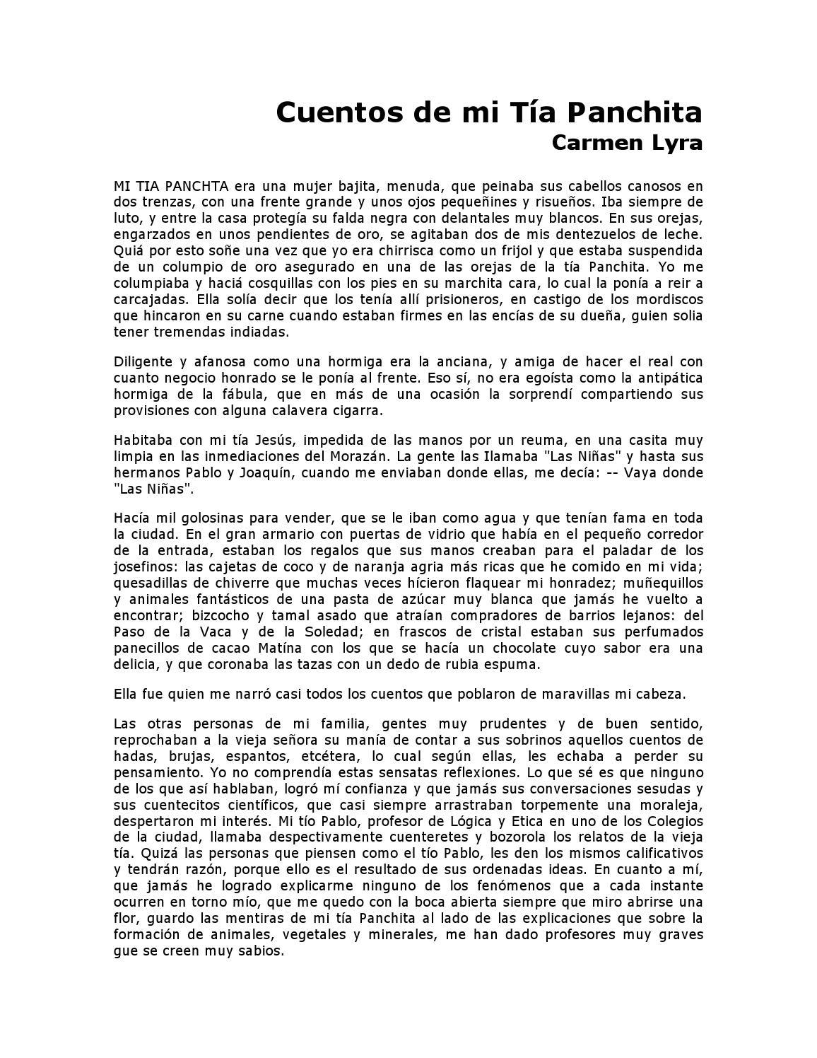Cuentos de mi tia Panchita by Luis Valverde - issuu