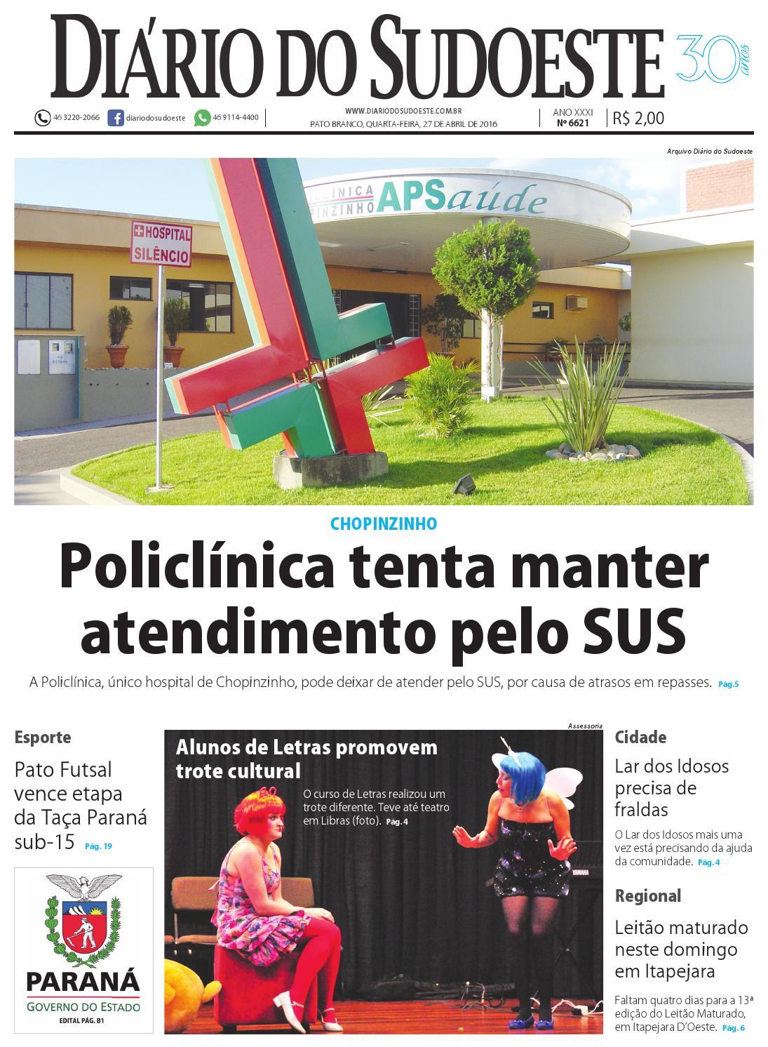 Diário do sudoeste 27 de abril de 2016 ed 6621 by Diário do Sudoeste - issuu f49b6257f92e0