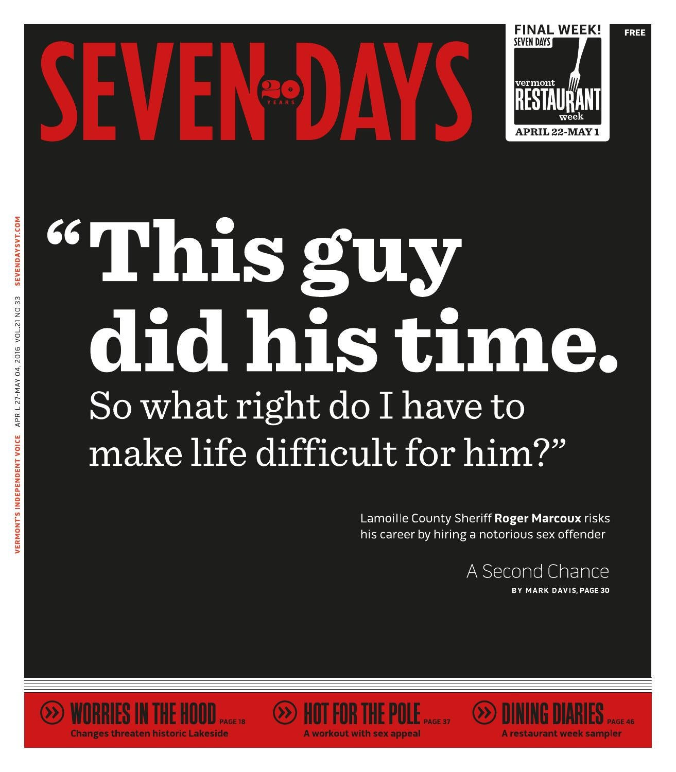 Seven Days, April 27, 2016 by Seven Days - issuu