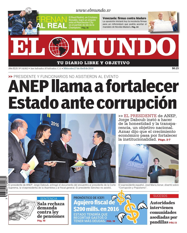 Mundo270416 by Diario El Mundo - issuu