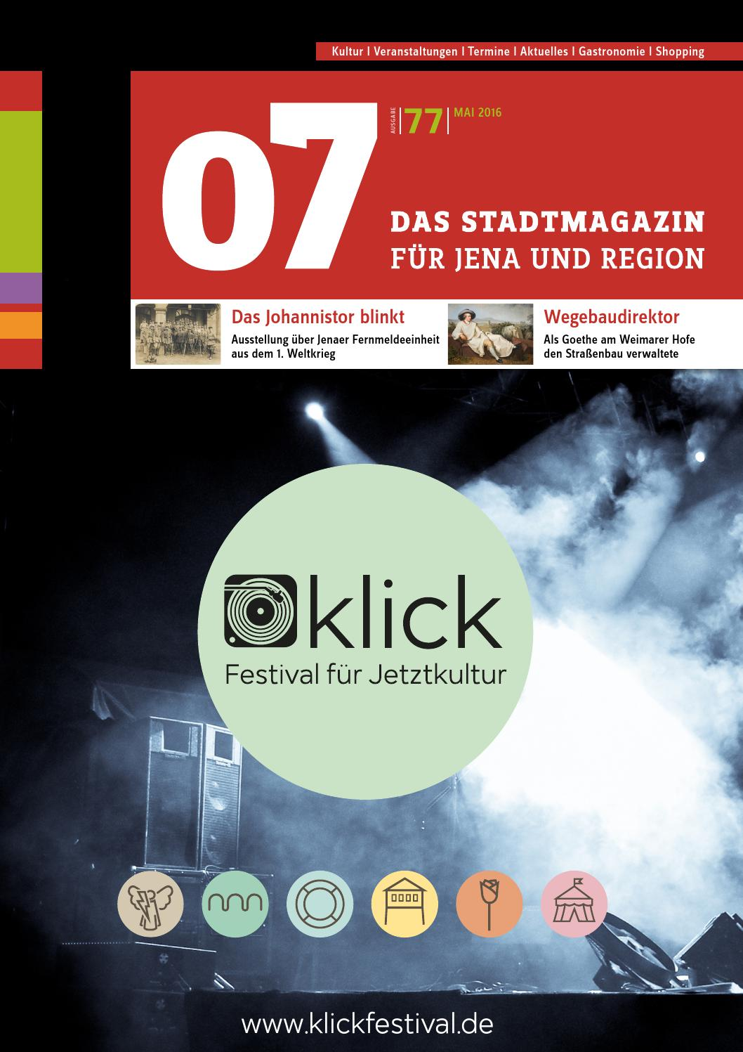 07 das stadtmagazin f r jena region ausgabe 77 mai. Black Bedroom Furniture Sets. Home Design Ideas