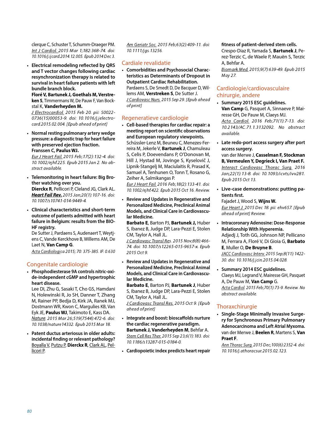 Jaarverslag 2015 - Hartcentrum OLV Aalst by W247 BE - issuu