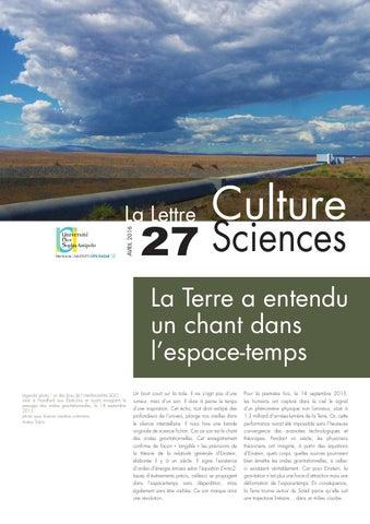 La lettre Culture Science n°27