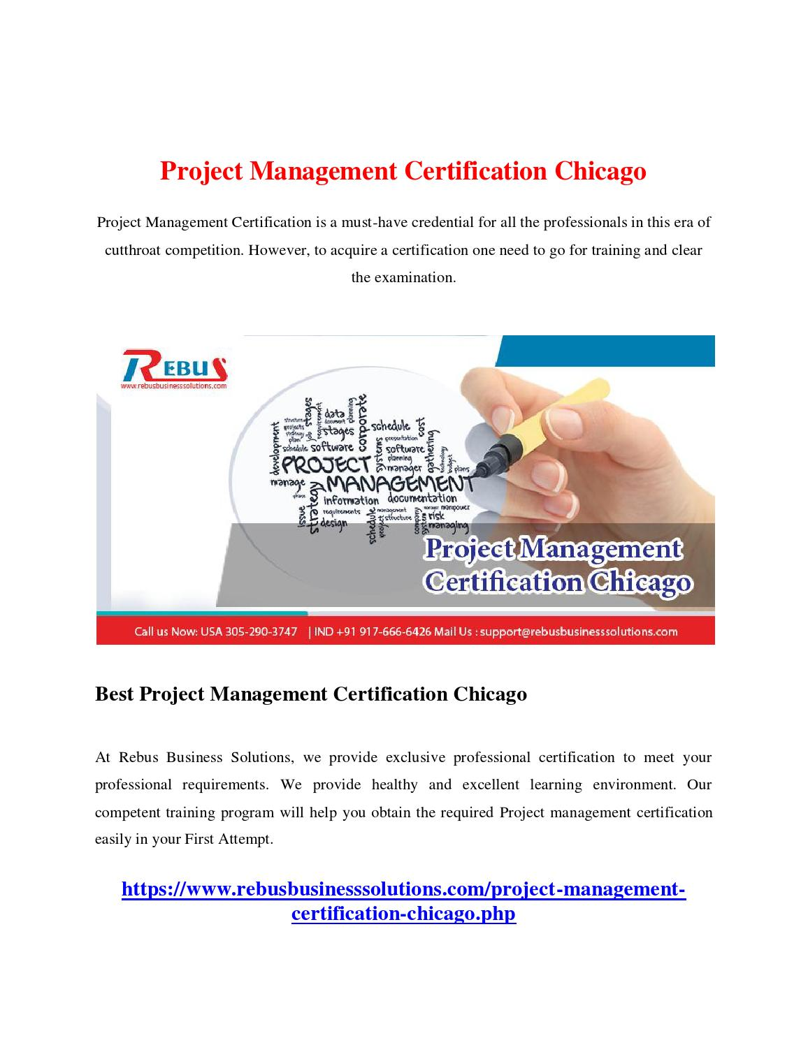 Project Management Certification Chicago By Mathumitha Issuu