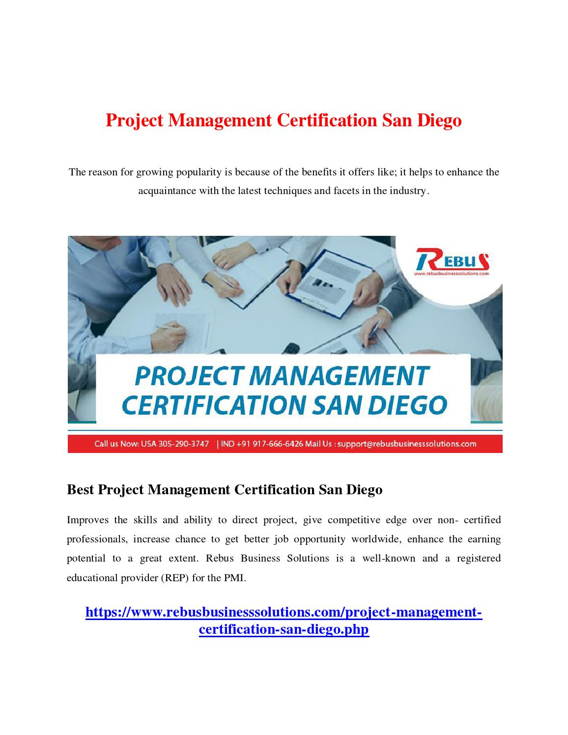 Project Management Certification San Diego By Mathumitha Issuu