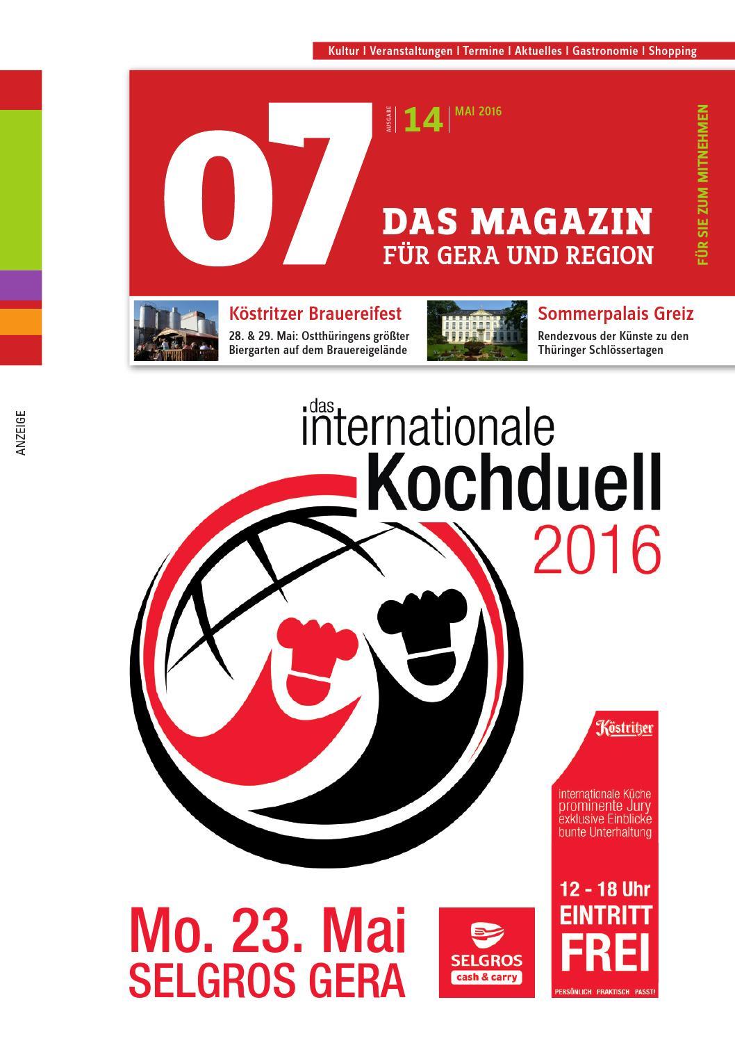 07 Das Magazin Gera & Region, Ausgabe 14, Mai 2016 by 07 & tam.tam ...