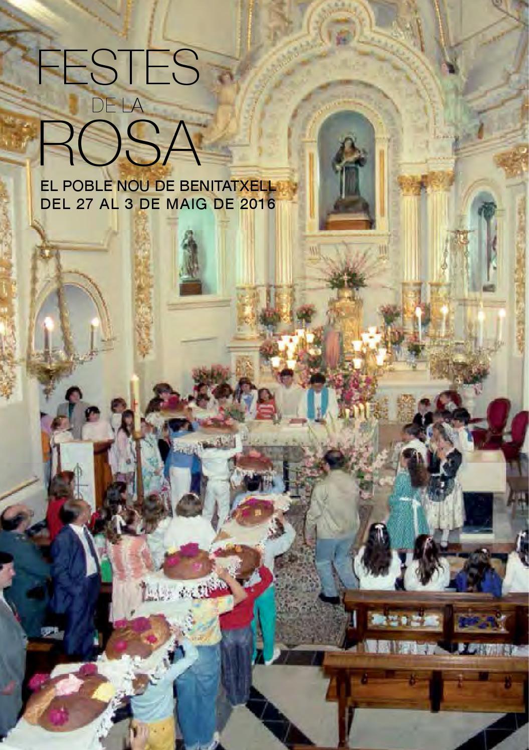 Festes De La Rosa 2016 By Ajuntament El Poble Nou De Benitatxell  # Muebles Ortola Teulada