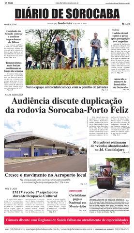 Edição de 27 de abril de 2016 by DIÁRIO DE SOROCABA - issuu d1320edad5cae