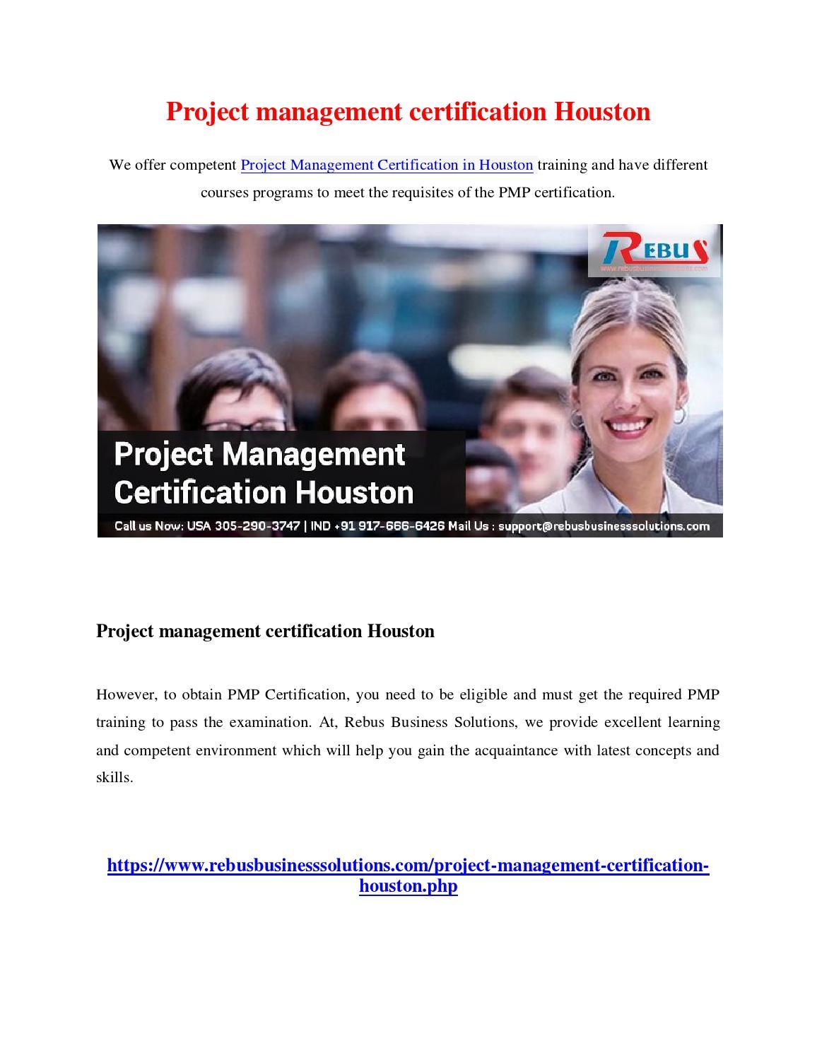 Project management certification houston by jithuprabhu issuu xflitez Choice Image