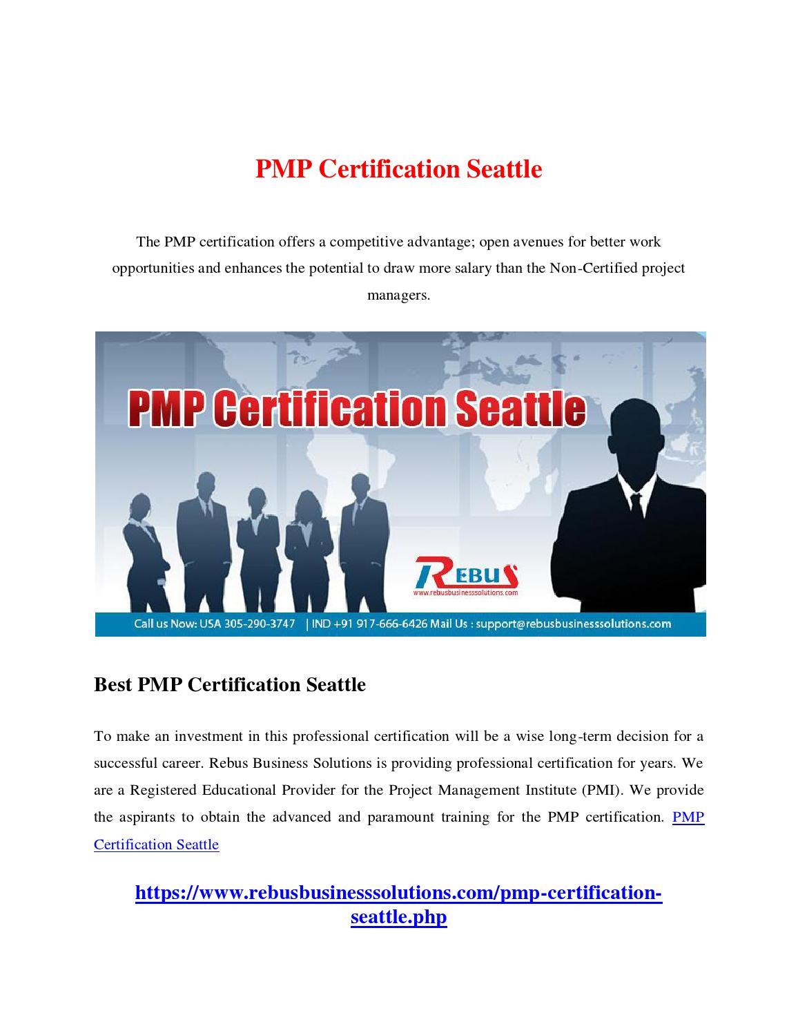 Pmp Certification Seattle By Snekhasn05 Issuu