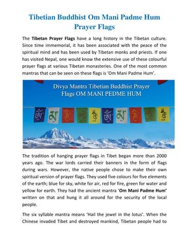 Tibetian buddhist om mani padme hum prayer flags by Divya