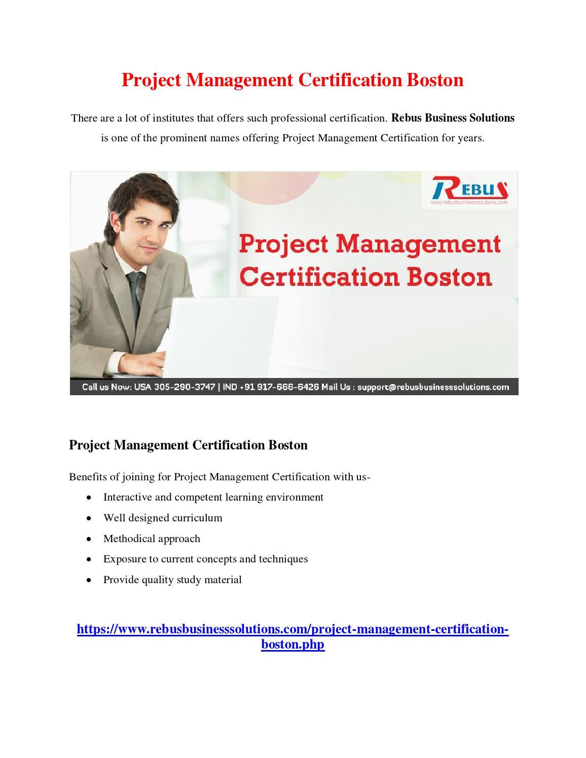 Project Management Certification Boston By Mathumitha Issuu