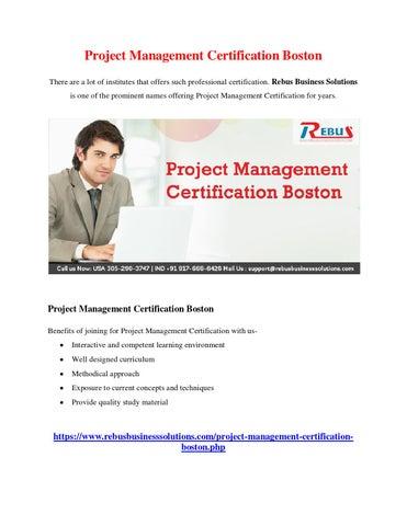 Project management certification boston by mathumitha - issuu