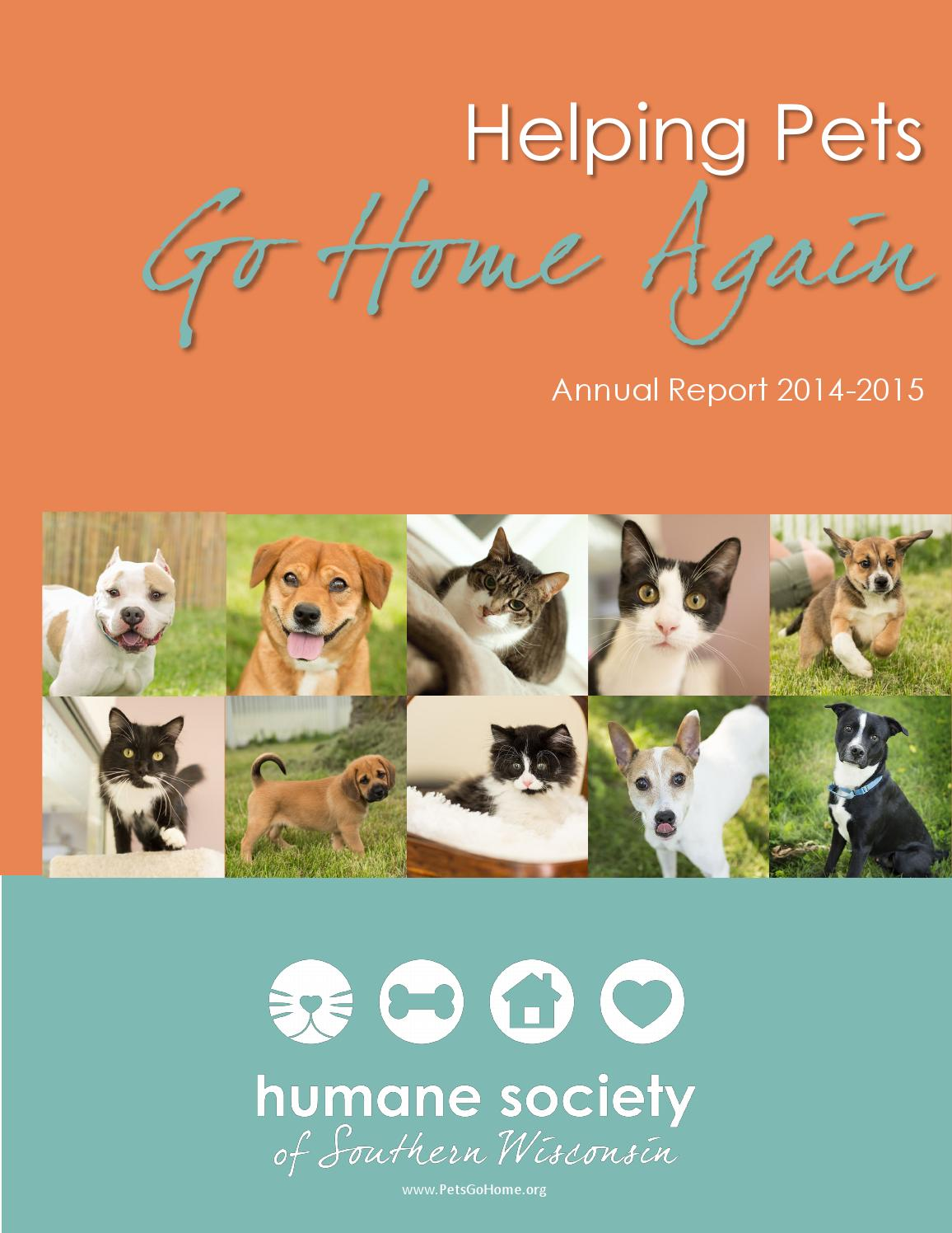 Humane Society Of Southern Wisconsin Annual Report Issue April 2016 By Humane Society Of Southern Wisconsin Issuu