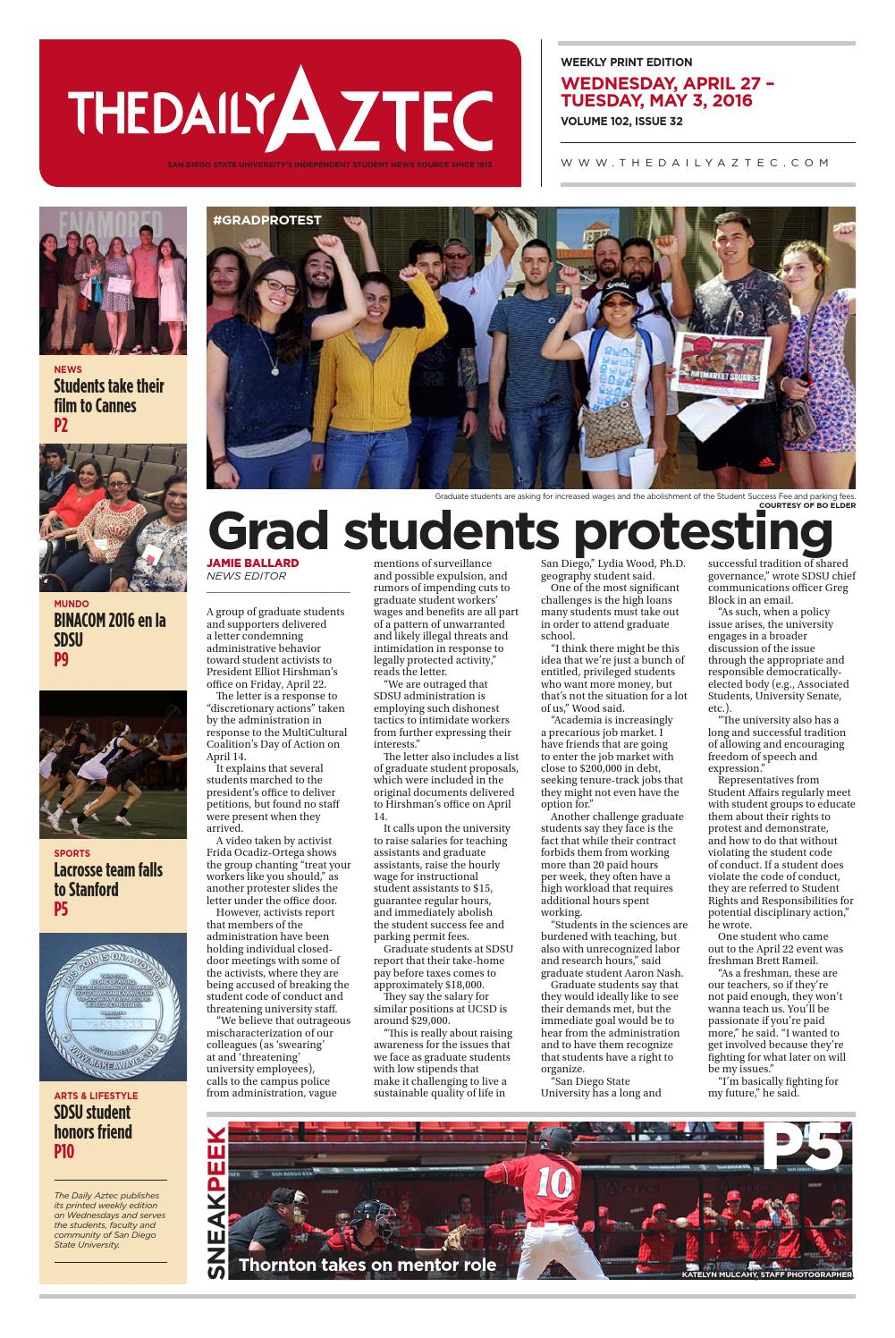 04-27-2016 by The Daily Aztec - issuu