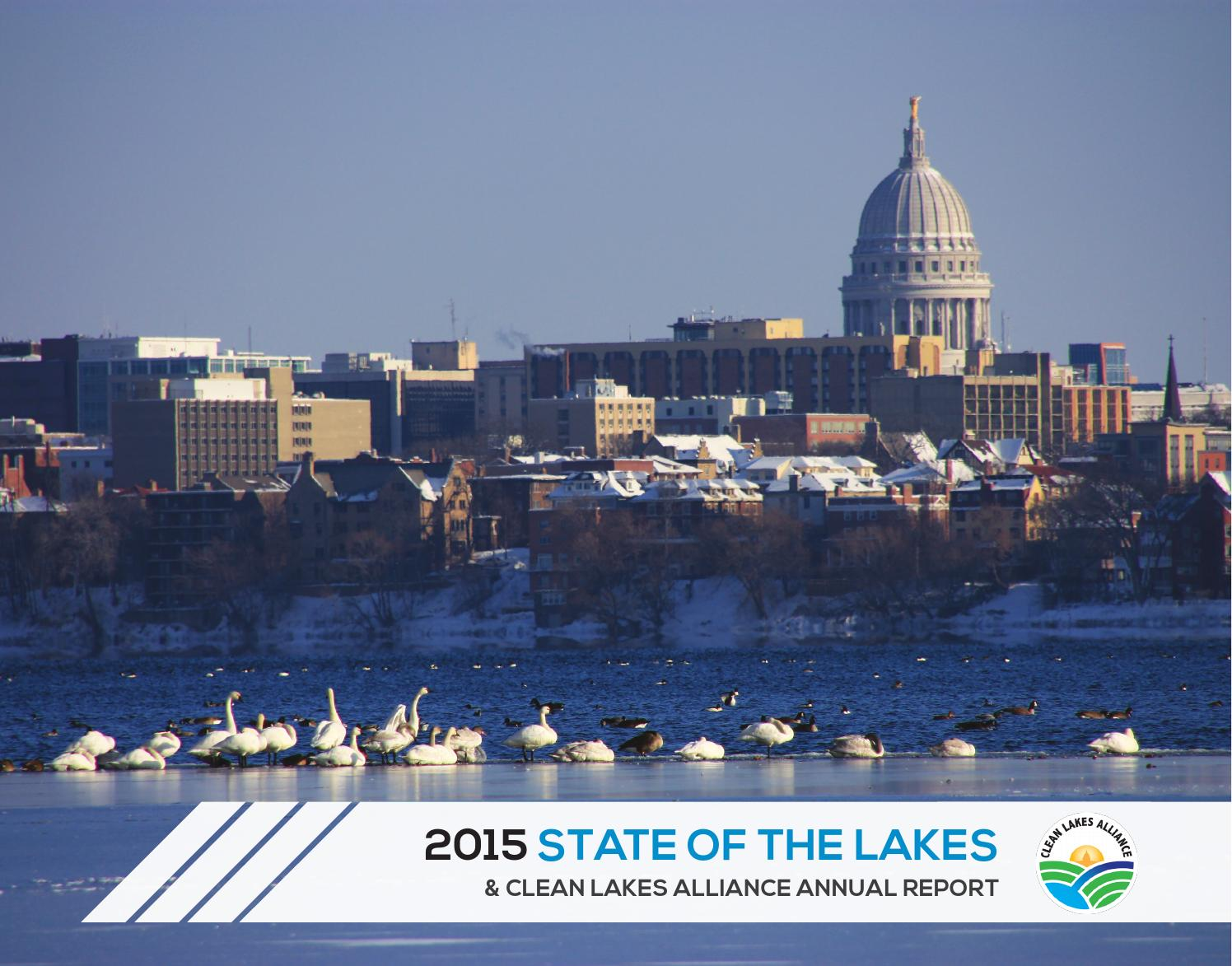 Lake Wingra On Cold December Day This >> 2015 State Of The Lakes By Clean Lakes Alliance Issuu