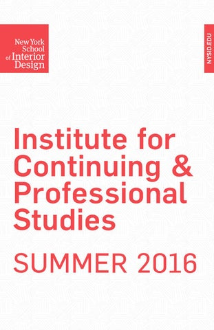 Summer 2016 Institute For Continuing Professional Studies