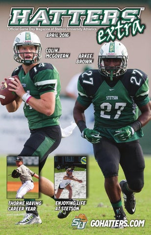 Extra - Issuu Stetson Athletics By Hatters University april 2016