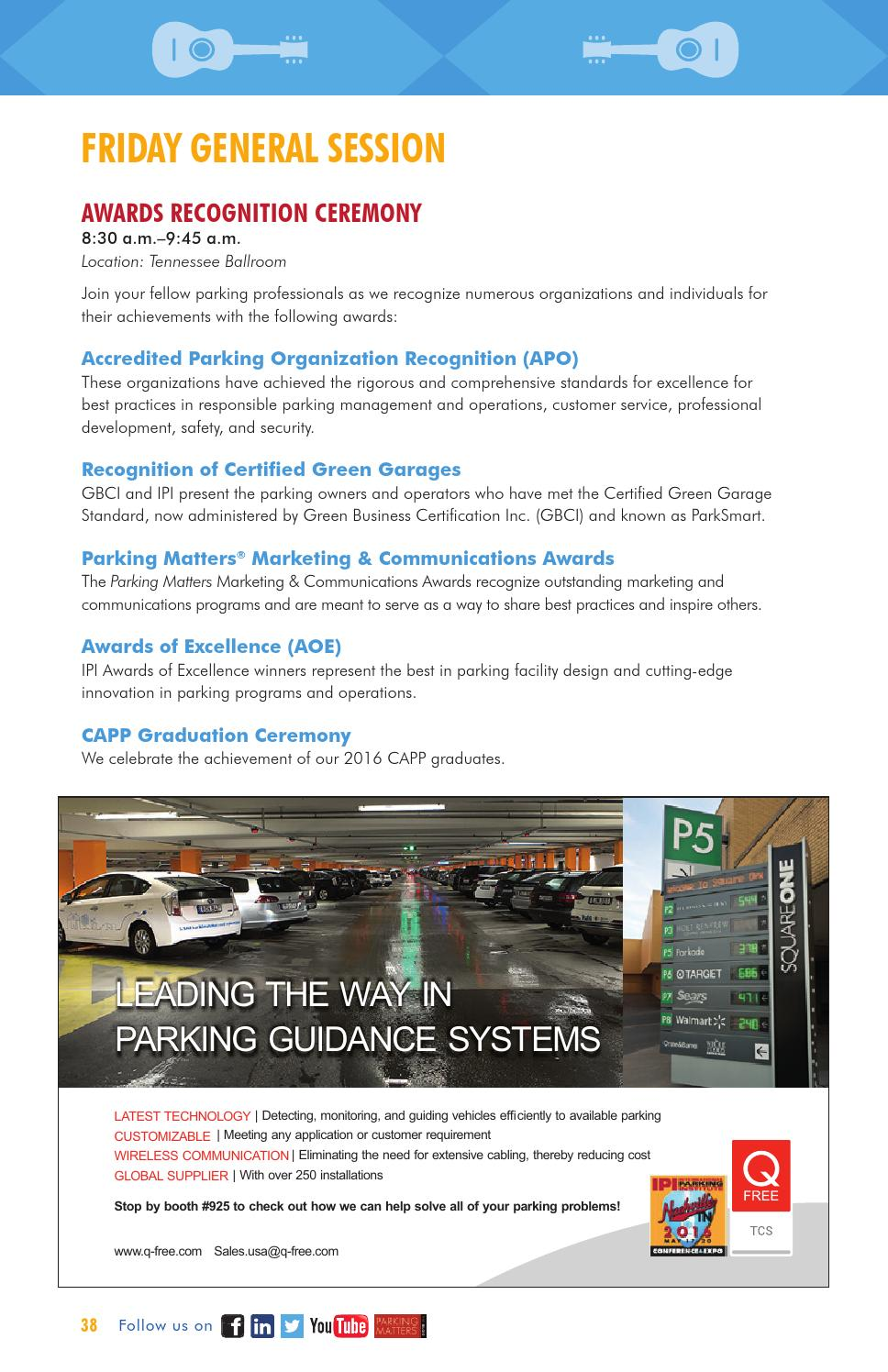 2016 Ipi Conference Expo Official Program Guide By International Parking Mobility Institute Issuu