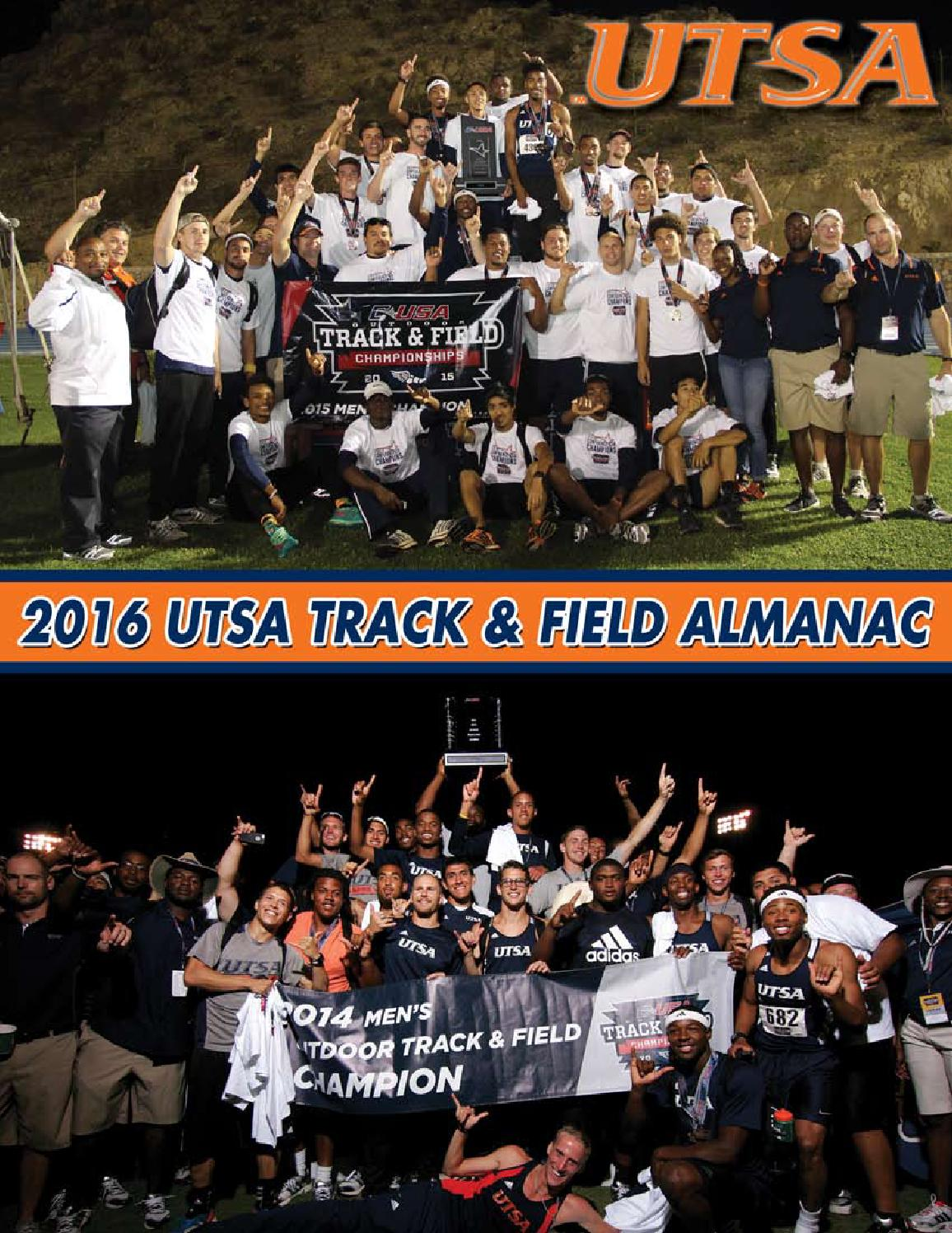 2016 UTSA Track   Field Almanac by UTSA Athletics Communications - issuu 26e2fffd9
