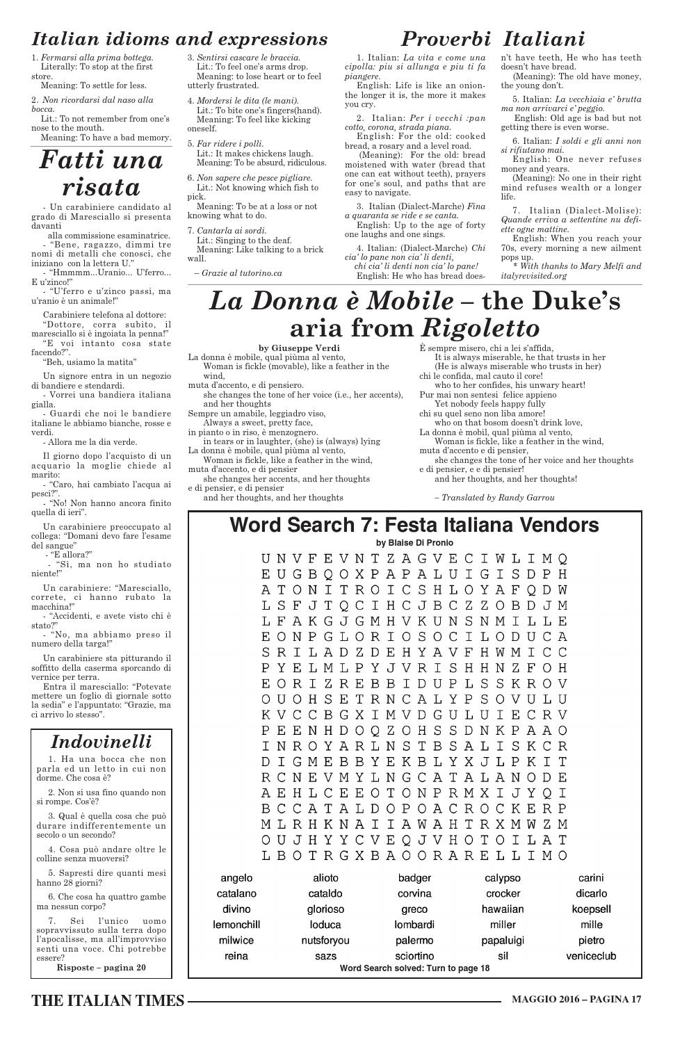 la donna mobile meaning