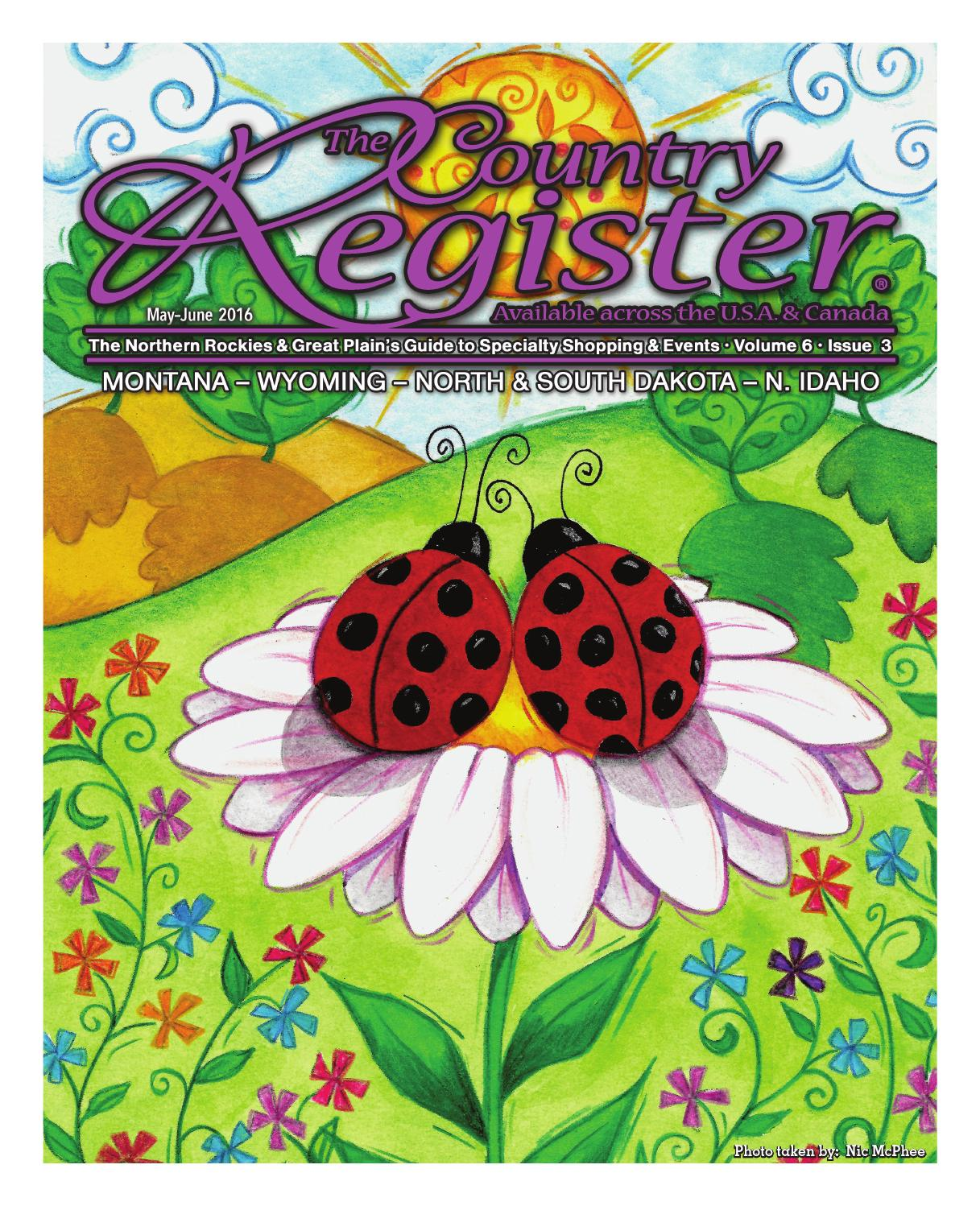 May June Country Register 2016 By Moxie Marketing Of The