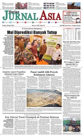Harian Jurnal Asia Edisi Kamis, 28 April 2016