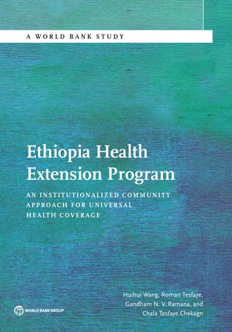 Ethiopia Health Extension Program by World Bank Group Publications