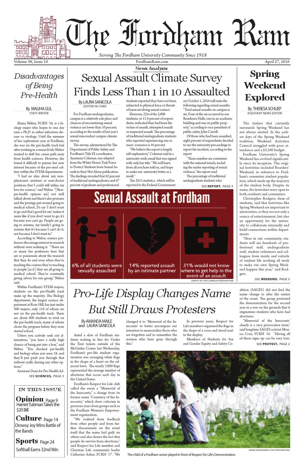 0e3e80ee43d Volume 98 Issue 10 by The Fordham Ram - issuu