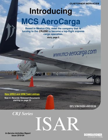 mcs aerocarga bombardier crj series in service activities report rh issuu com CARF Accreditation Standards Manual Standard Manual Book