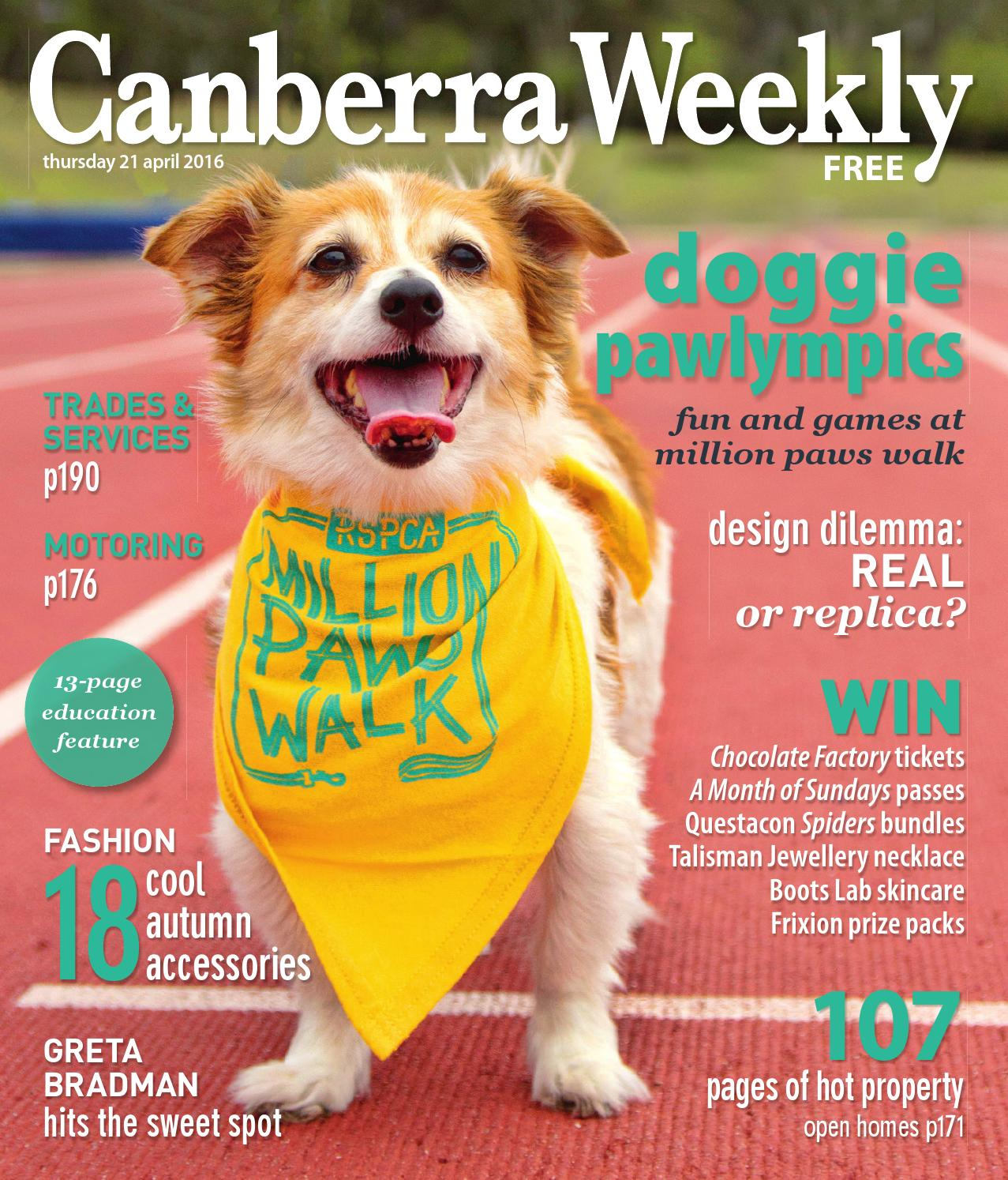 21 April 2016 By Canberra Weekly Magazine Issuu Terry Palmer Premium Towel Bath Ampamp Travel 500g Set2tp1001 Set Of 2 Light Blue
