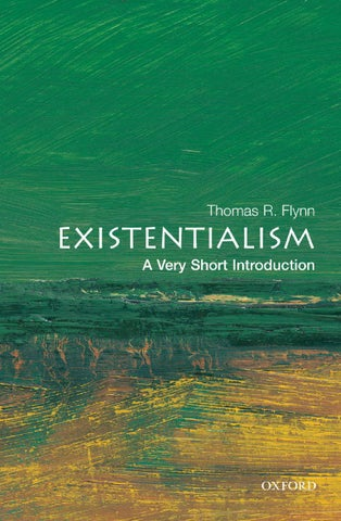 Thomas r flynn existentialism; a very short introduction