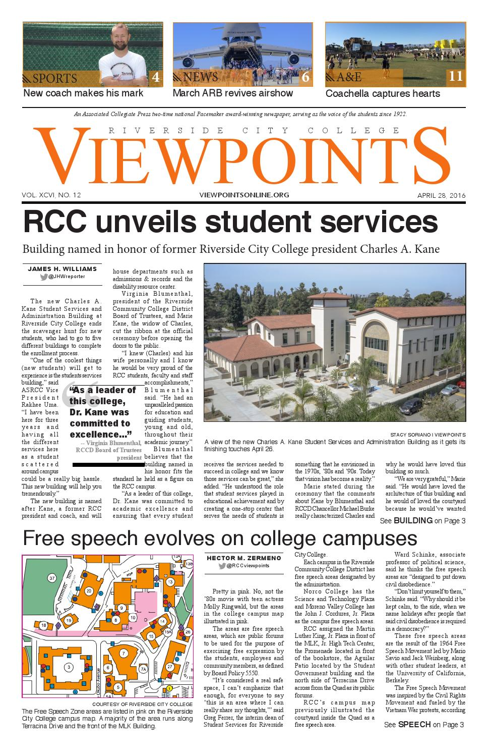Riverside City College Campus Map.Viewpoints Issue No 12 April 28 2016 By Rcc Viewpoints Issuu