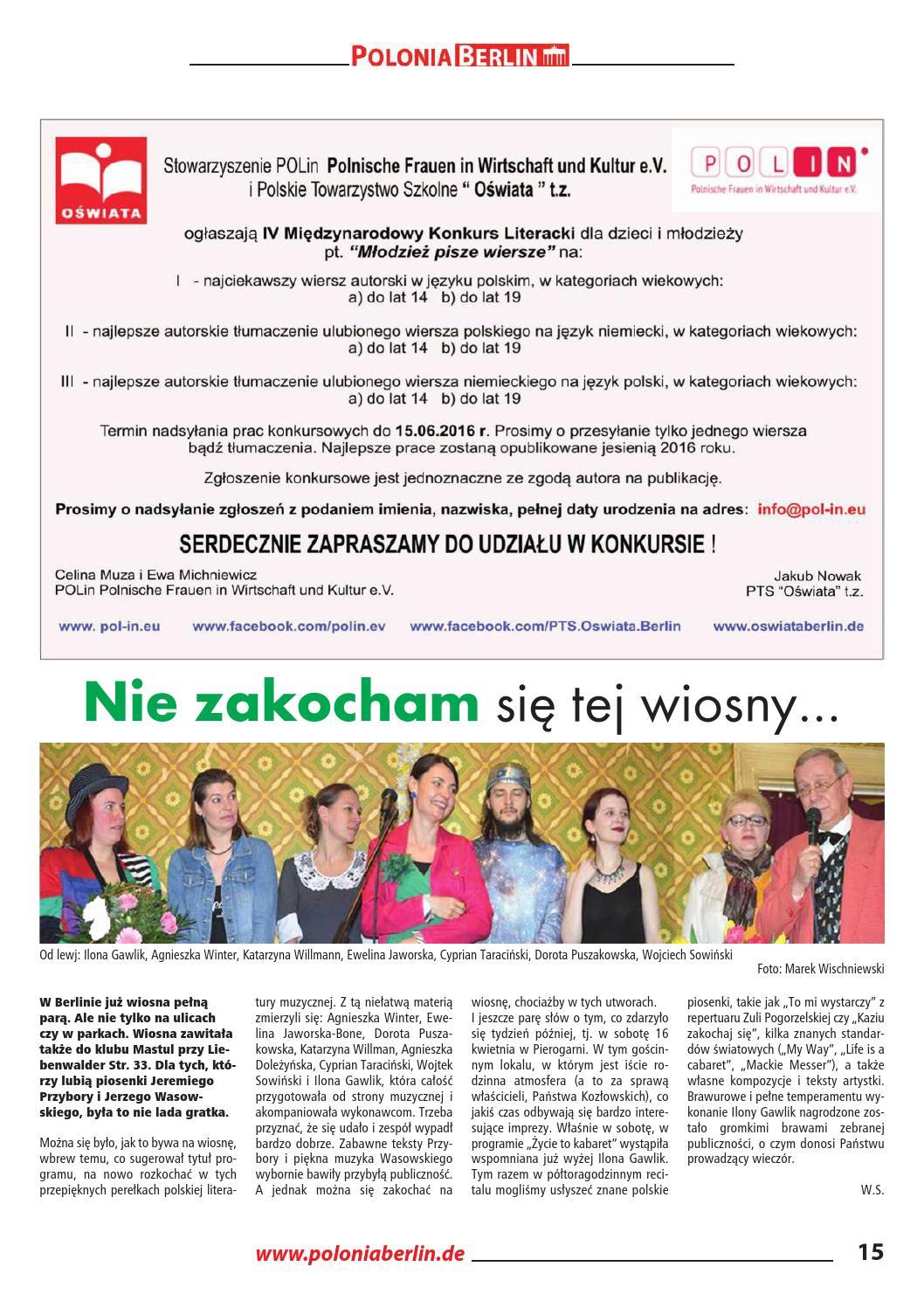 Gazeta Poloniaberlinde Maj 2016 By Gazeta Polonia Berlin