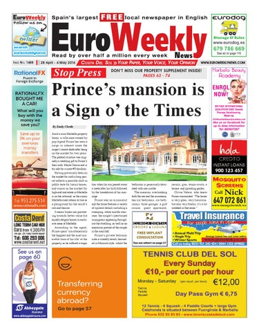 Euro weekly news costa del sol 28 april 4 may 2016 issue 1608 by page 1 fandeluxe Image collections