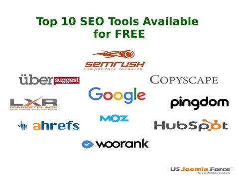 Top 10 seo tools available for free by US Joomla Force - issuu