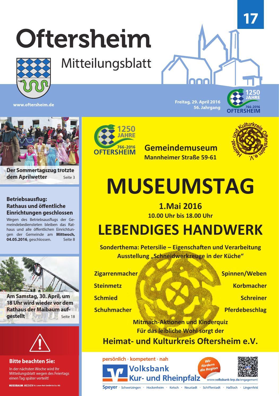 2016-17 Mitteilungsblatt - Gemeinde Oftersheim by Gemeinde ...