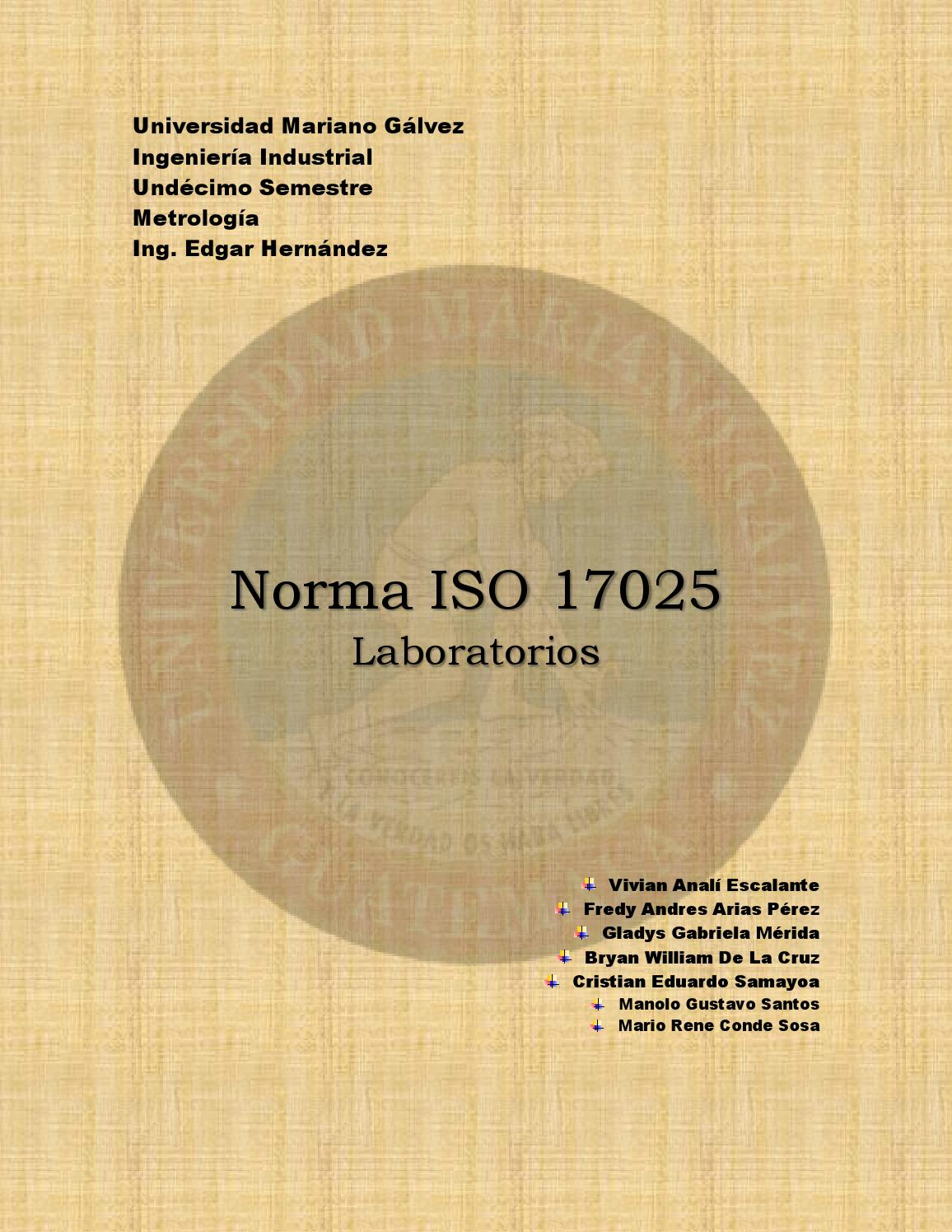 Norma ISO 17025 by Andres Arias - issuu