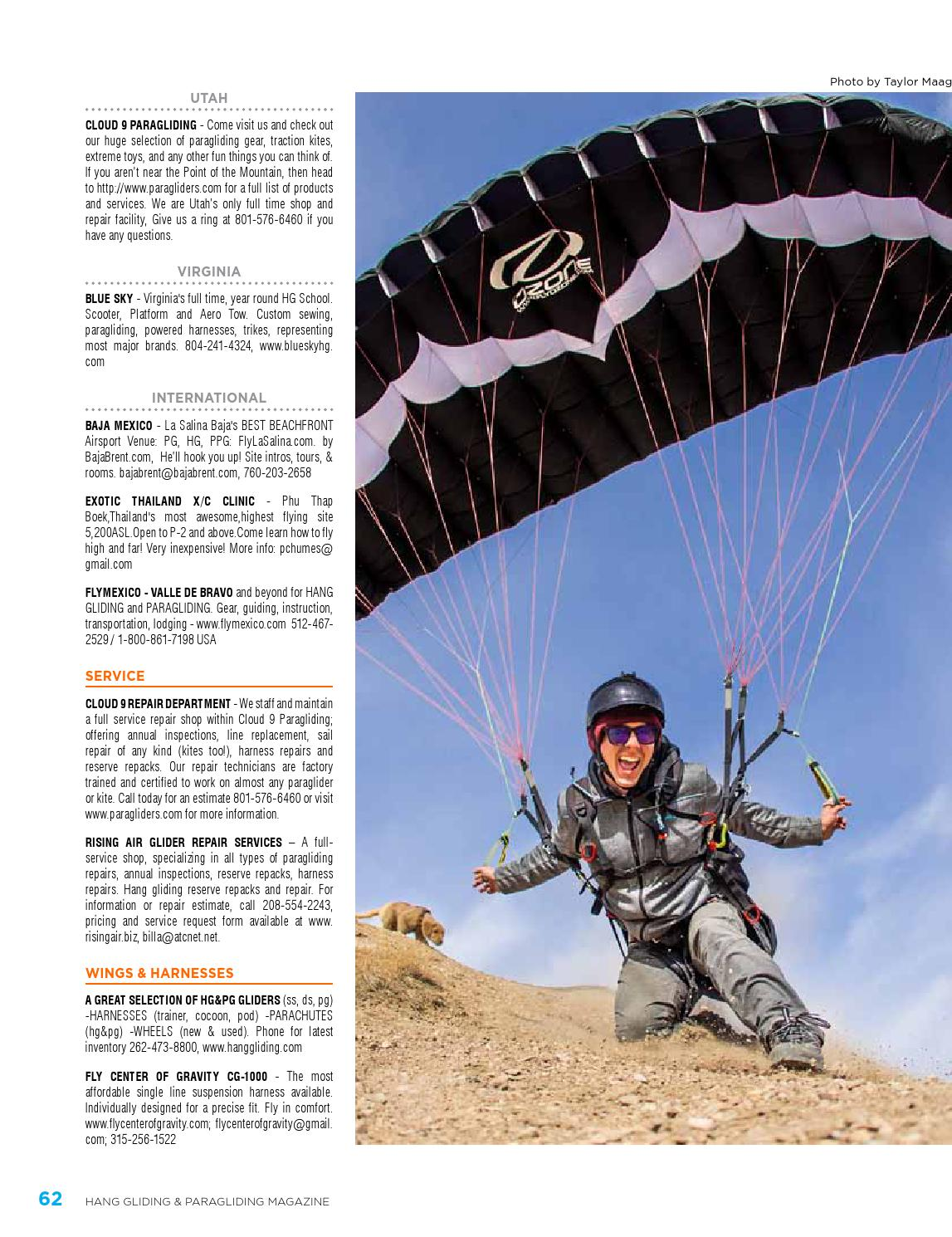 Hang Gliding Paragliding Vol46 Iss3 May Jun 2016 By Us Scooter Tow Harness Association Issuu