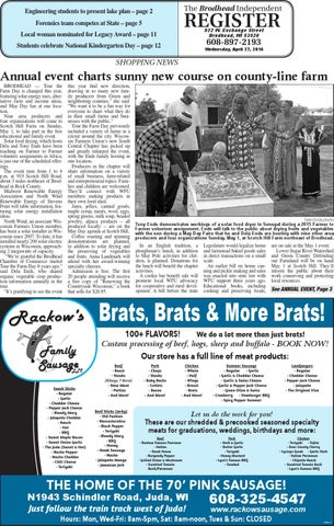 Is 4 27 16 By Southern Lakes Newspapers Rock Valley Publishing Issuu