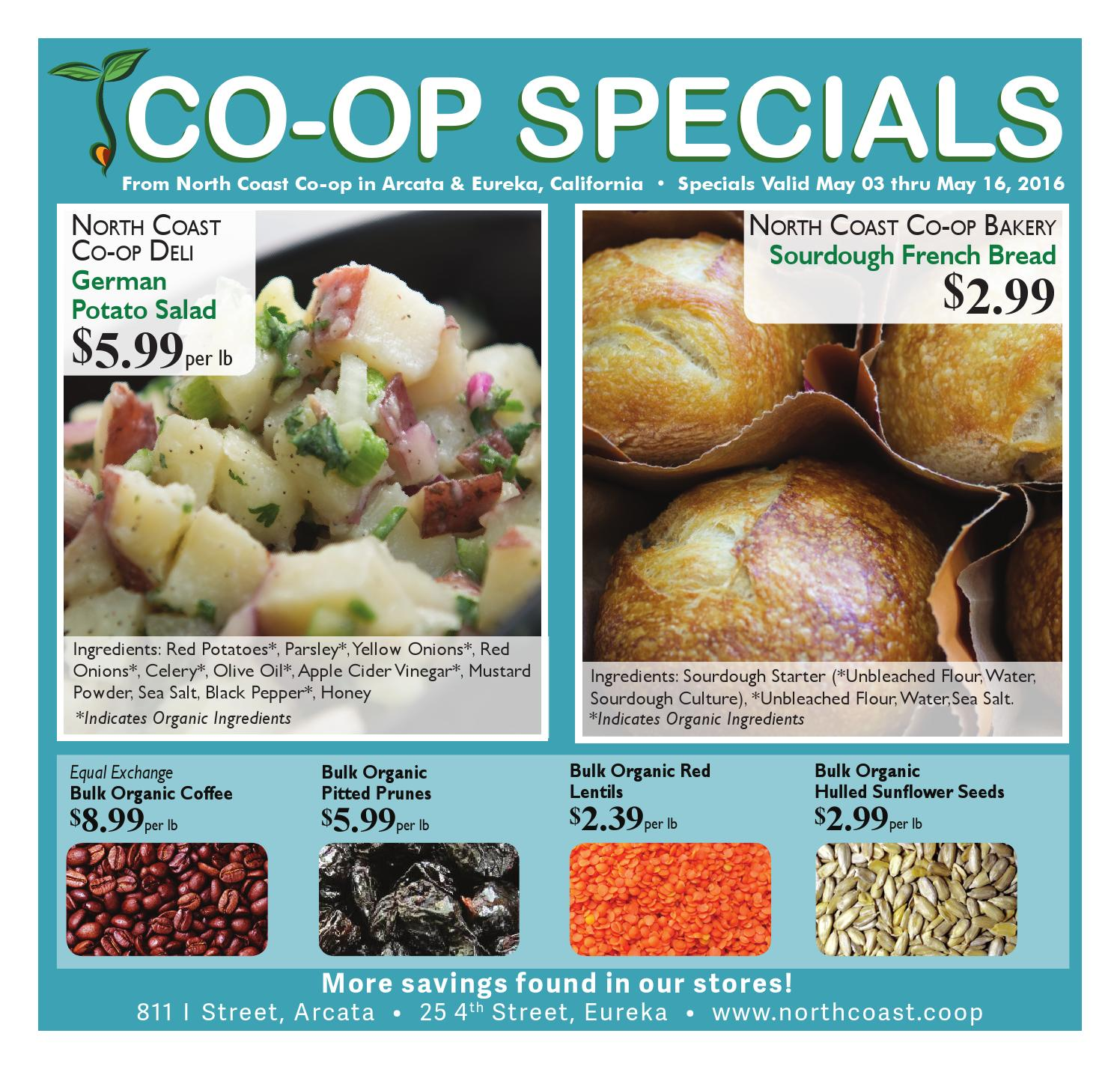 Co-op Specials May 3 though May 16 by North Coast Co-op - issuu