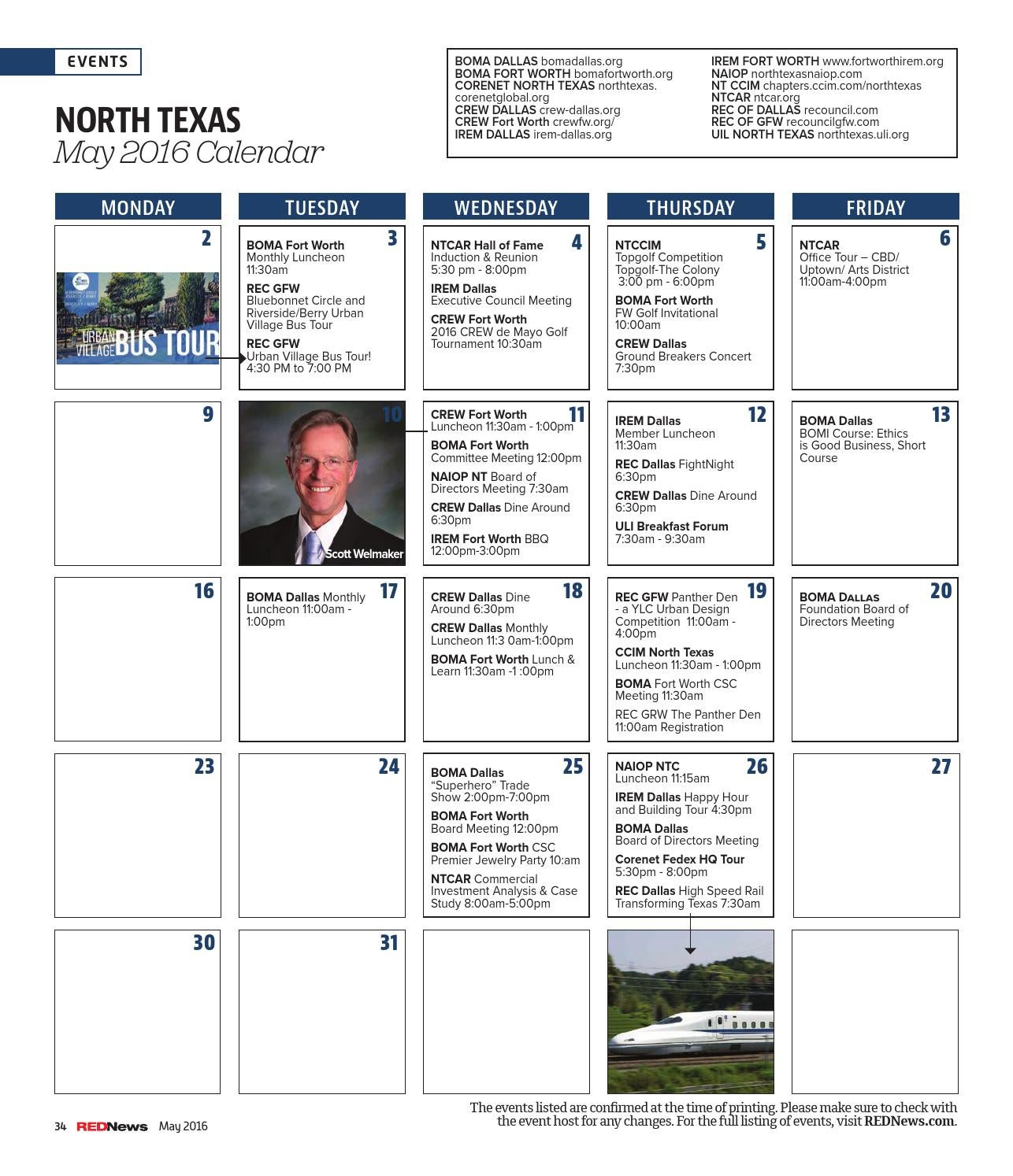 Rednews May 2016 North Texas
